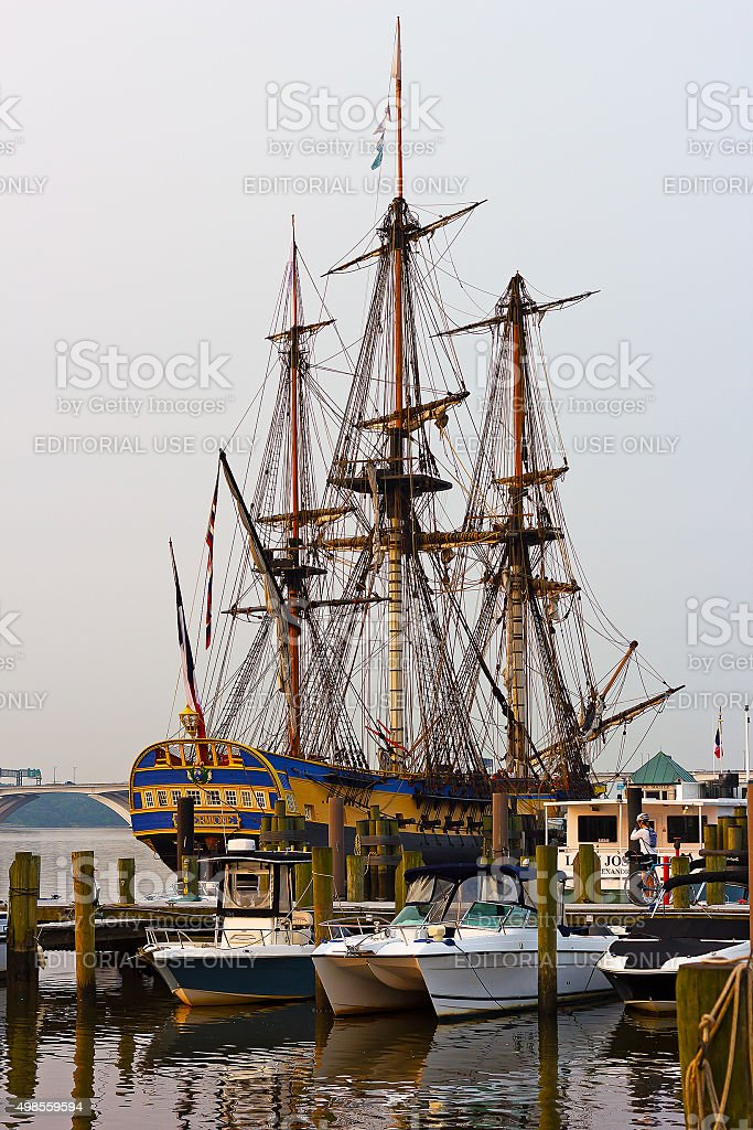 The famous frigate moored at Alaxandria pier. stock photo