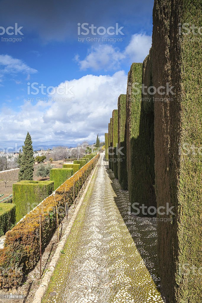 The famous gardens royalty-free stock photo