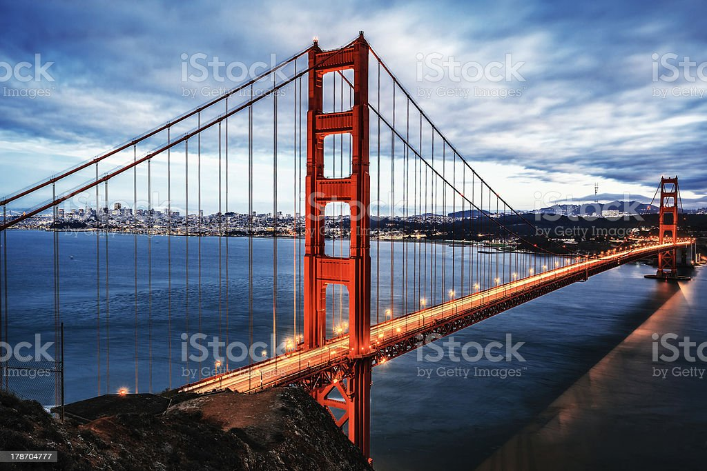 The famous Golden Gate Bridge royalty-free stock photo