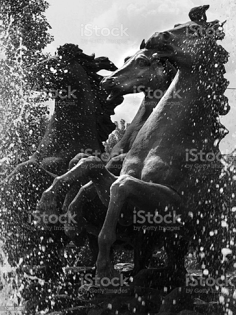 The Famous Horse Fountain stock photo