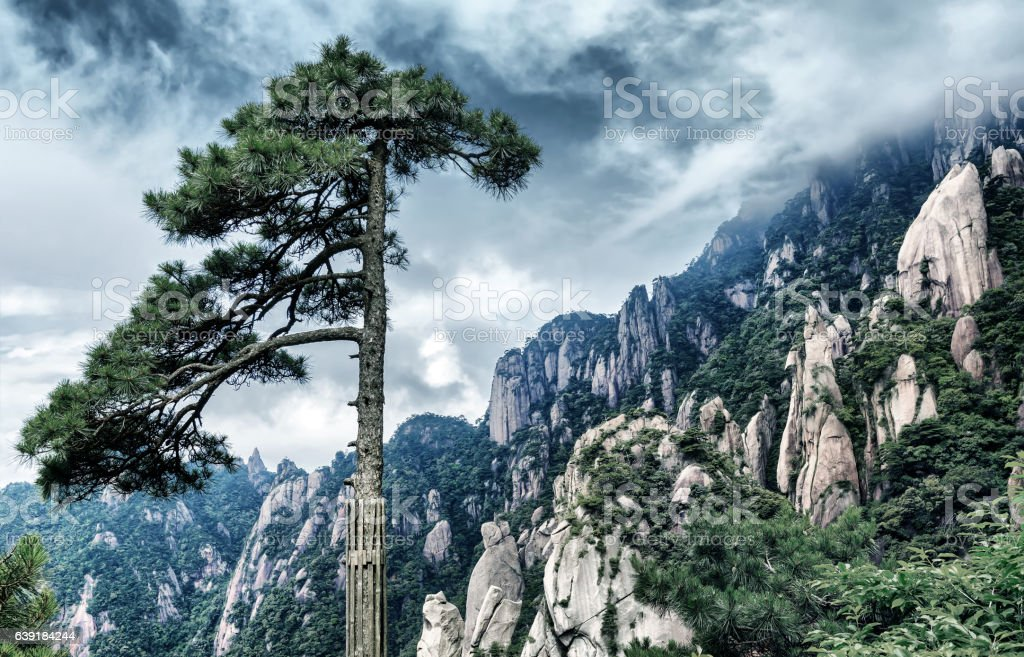 The famous Huangshan stock photo