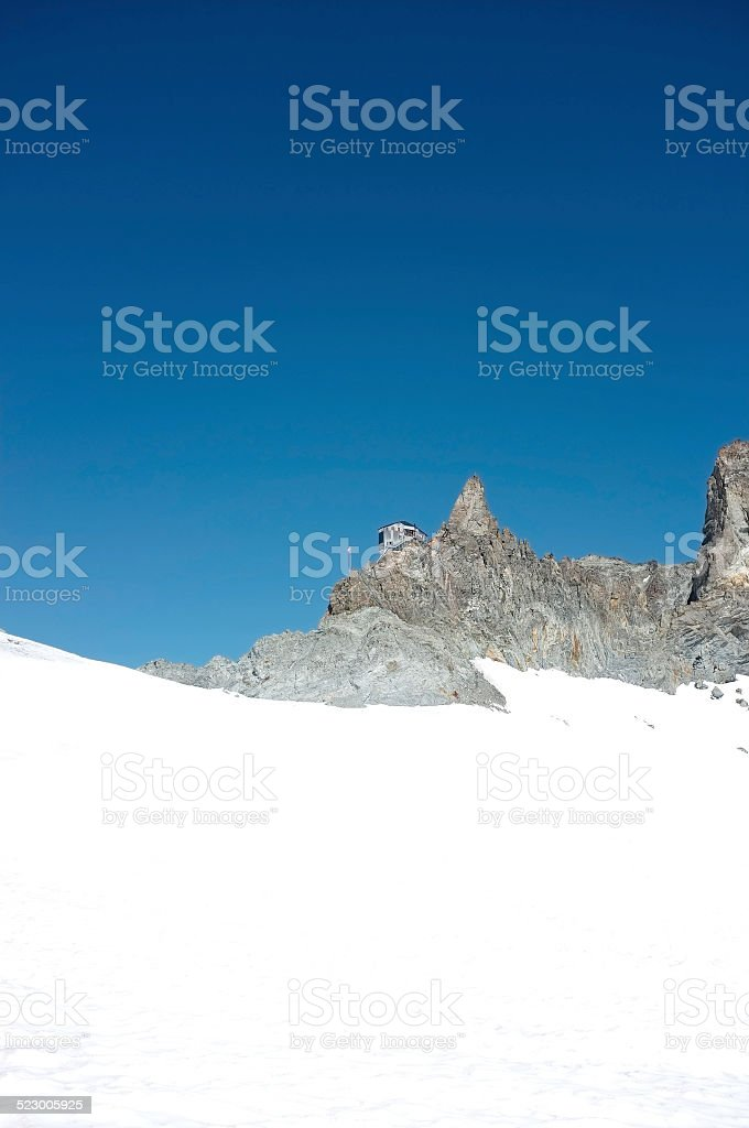 The famous hut Bertol stock photo