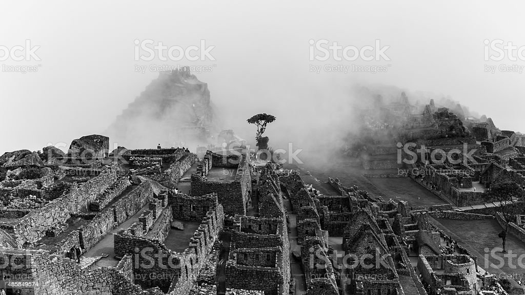 the famous inca ruins of machu picchu in peru stock photo