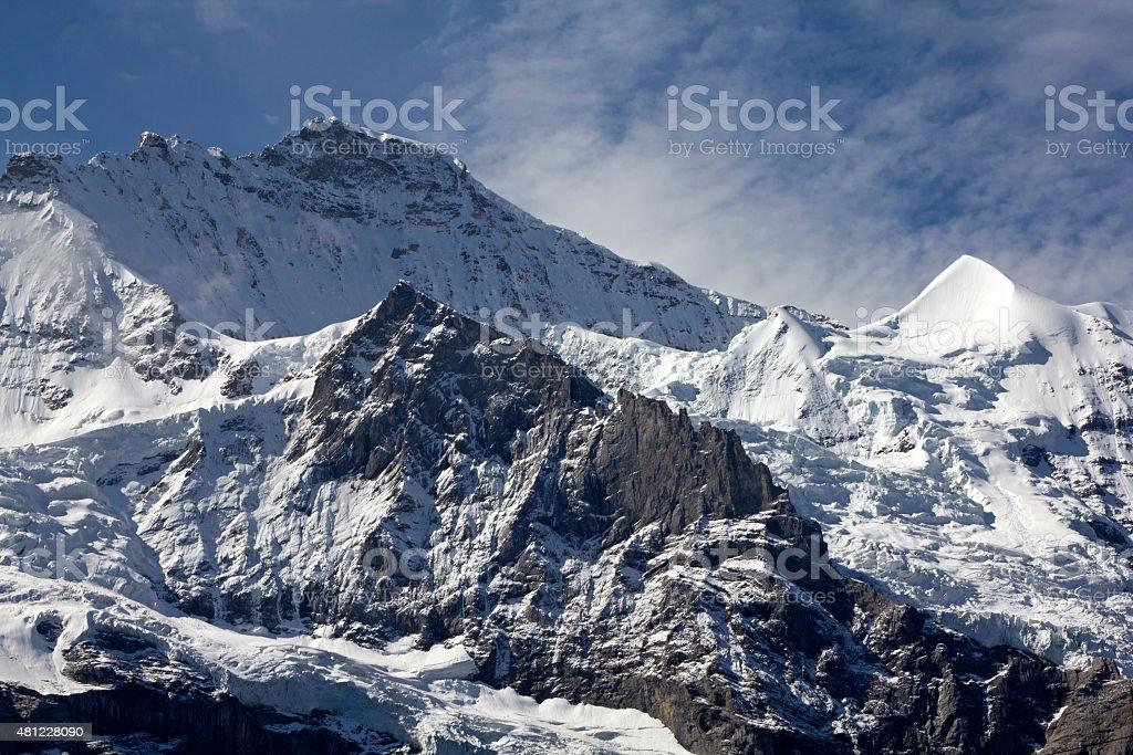 The famous Jungfrau mountain, Switzerland stock photo