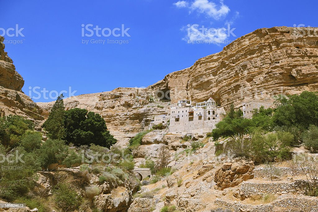 The famous Orthodox monastery of St. George stock photo