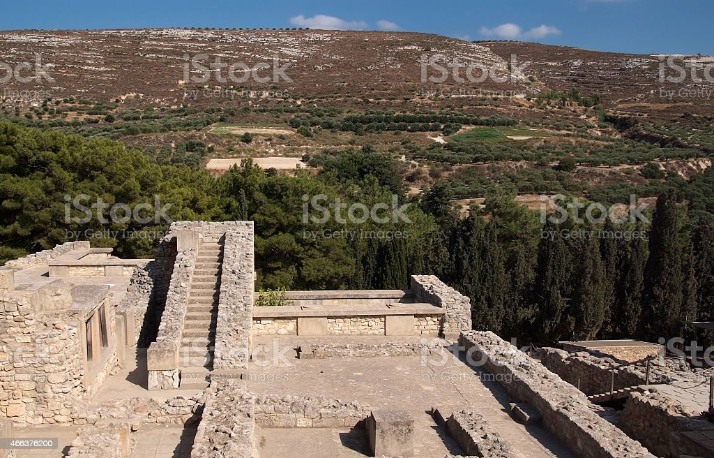 The famous palace of Knossos stock photo