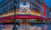 The famous restaurant Fouquet's, Paris, France.