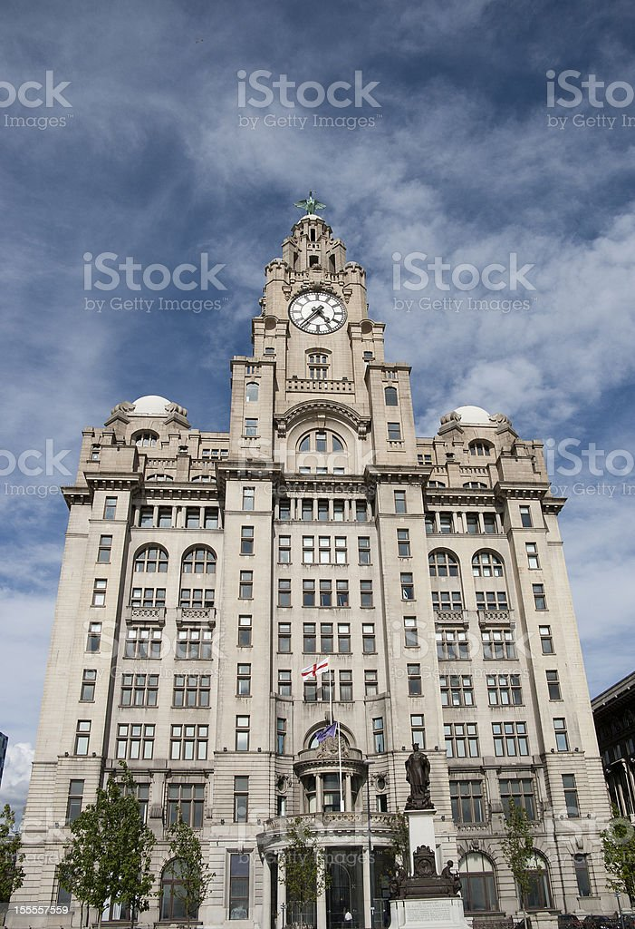 The famous Royal Liver Building Liverpool River Front. royalty-free stock photo