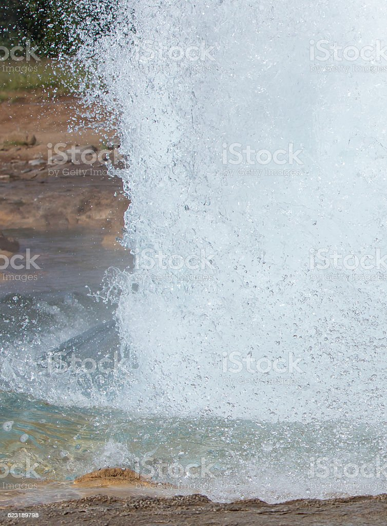 The famous Strokkur Geyser - Iceland - Close-up stock photo
