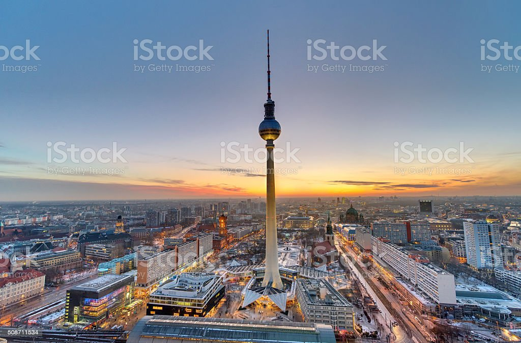 The famous Television Tower, Berlin stock photo