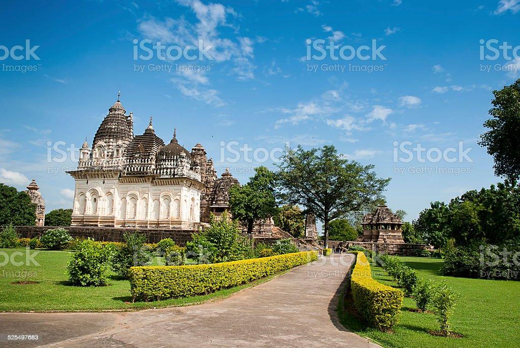 Les célèbres temples de Khajuraho, Madhya Pradesh, Inde. photo libre de droits