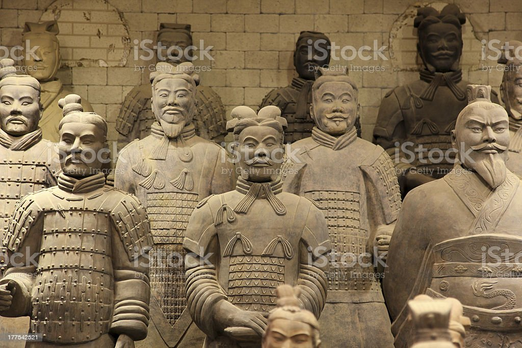 The famous terracotta warriors of XiAn, China stock photo