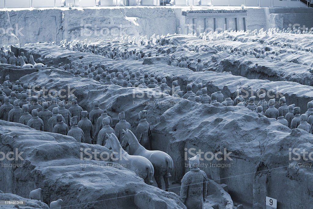 The famous terracotta warriors of XiAn, China royalty-free stock photo
