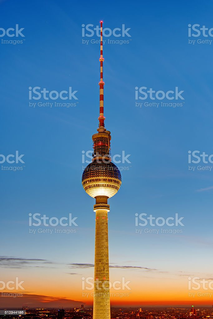 The famous TV Tower in Berlin stock photo