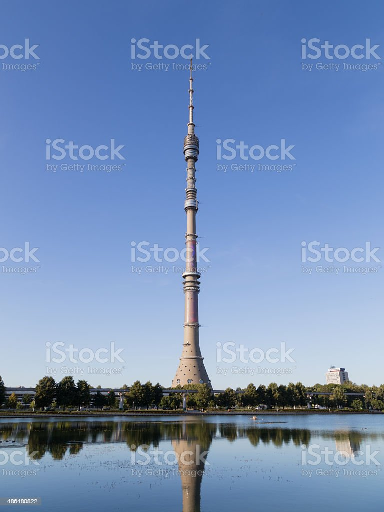 The famous TV Tower in Moscow stock photo