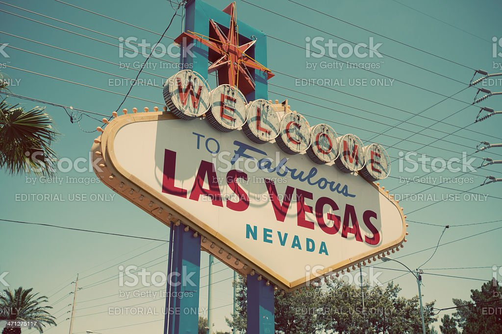 The famous welcome sign into Las Vegas, Nevada  stock photo