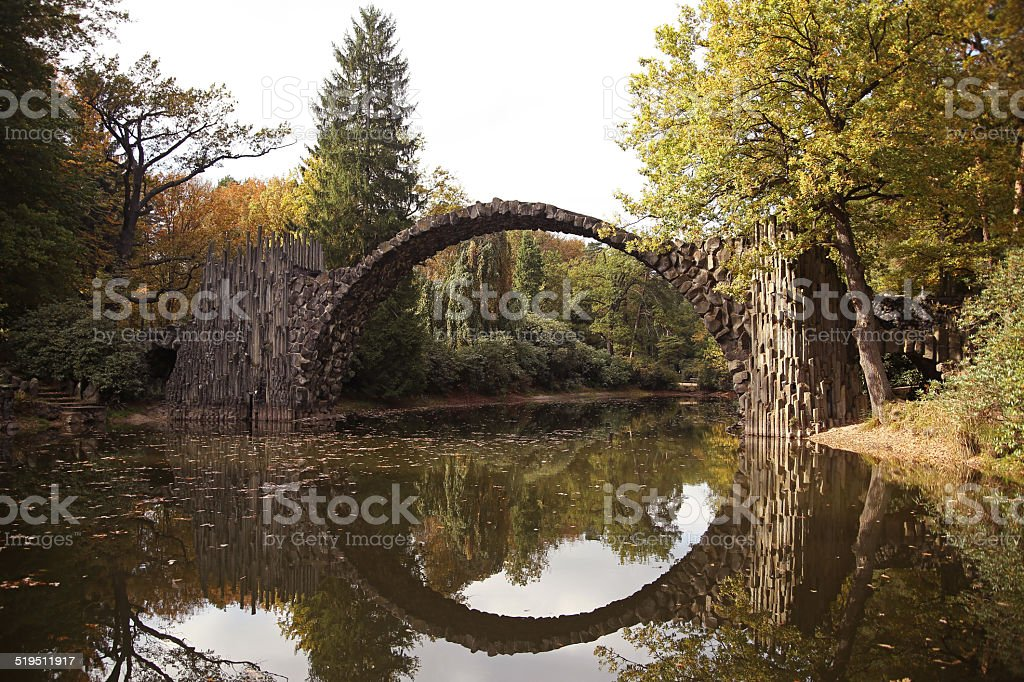 The fantasy bridge stock photo