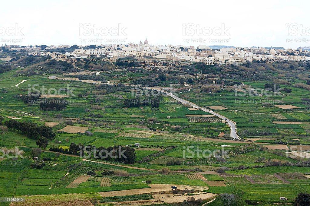 La Farm terra di Gozo, Malta foto stock royalty-free