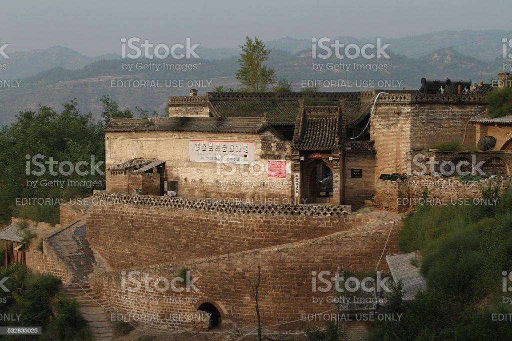 The Farm Village Lijiashan in China stock photo