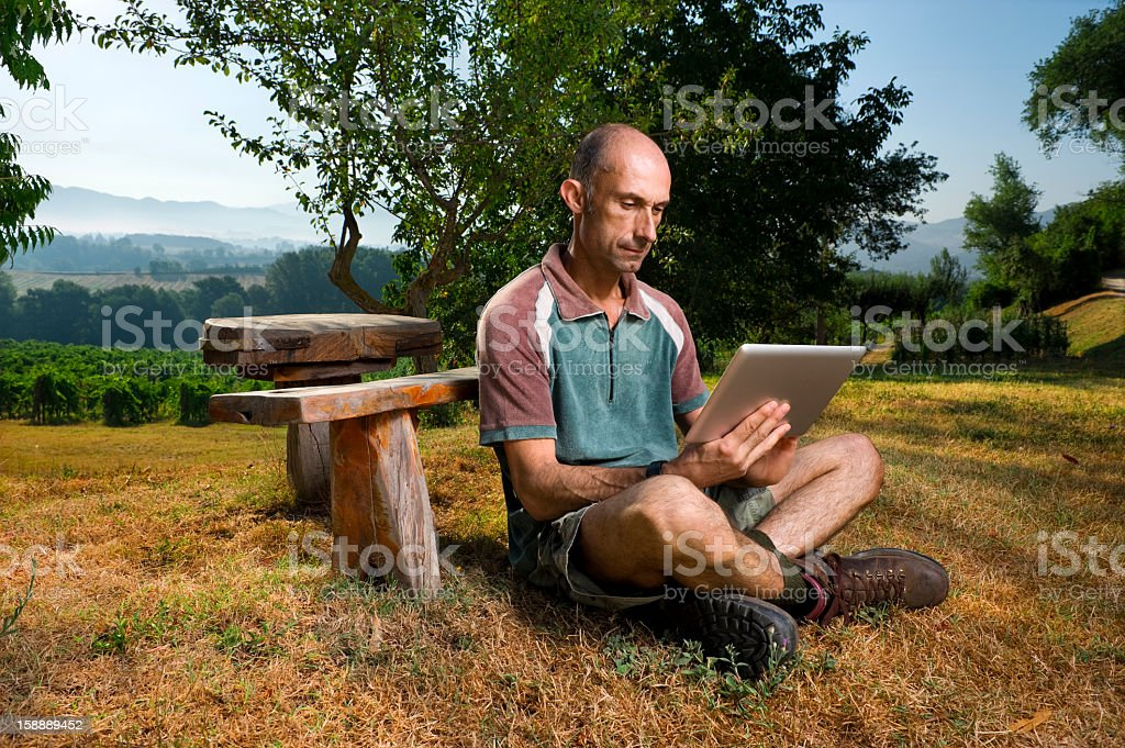 The Farmer Of Today.Color Image royalty-free stock photo