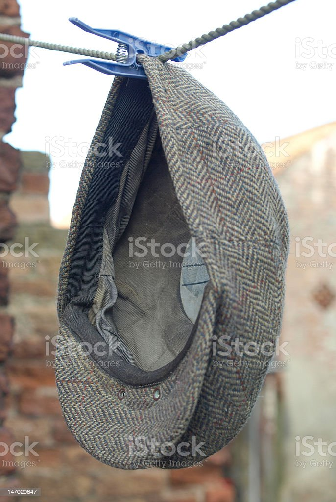 The Farmers Cloth Cap On Washing Day stock photo