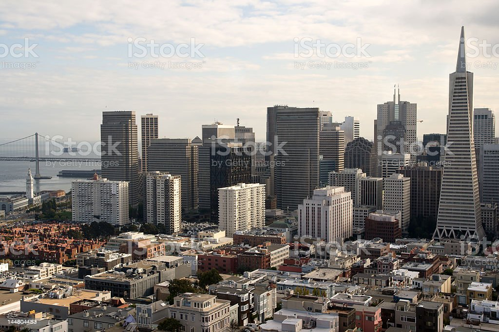 The Fascinating San Francisco Skyline royalty-free stock photo