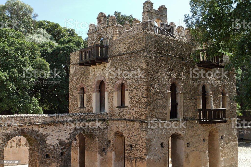 The Fasiledas Palace of Gonder in Ethiopia stock photo