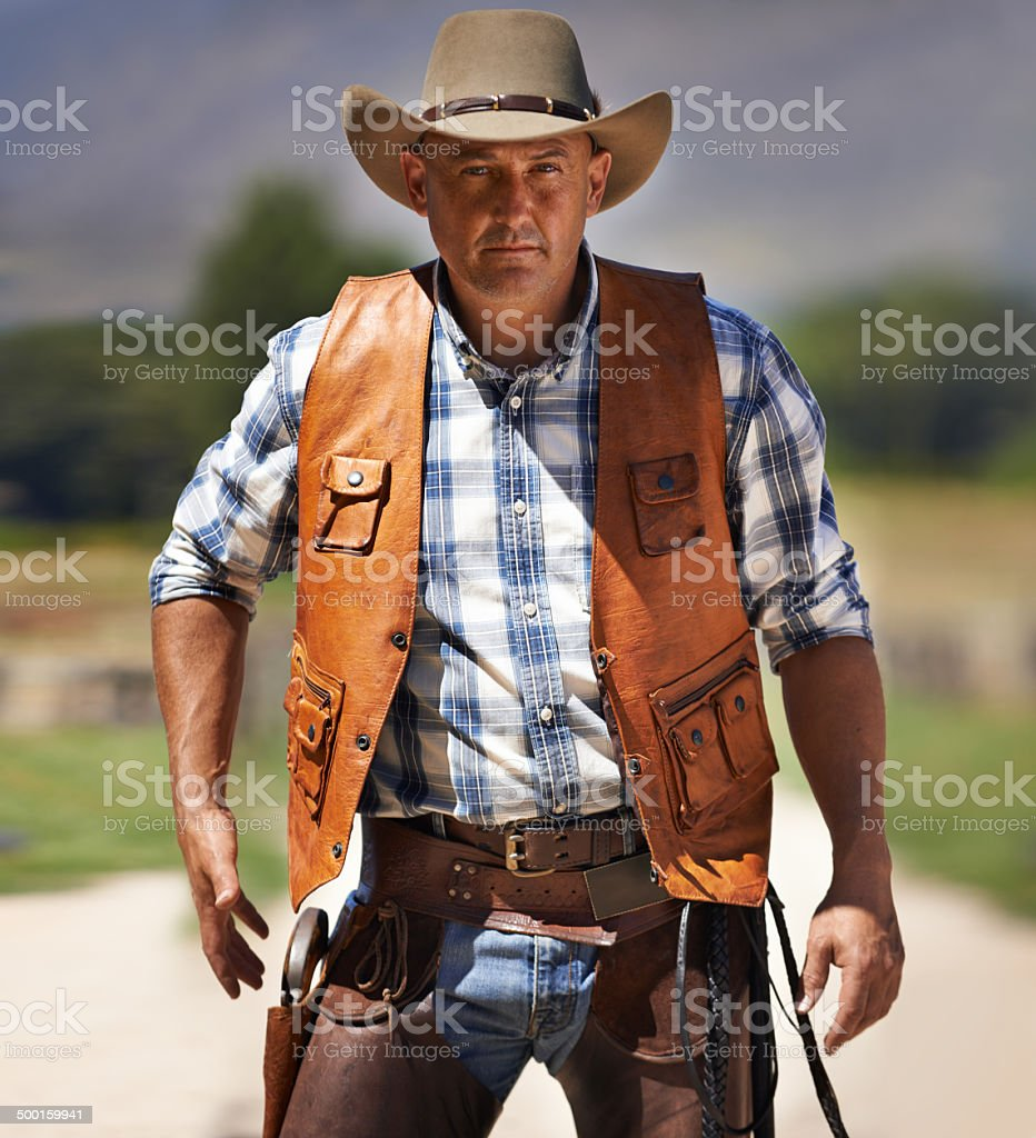 The fastest gun in the West stock photo