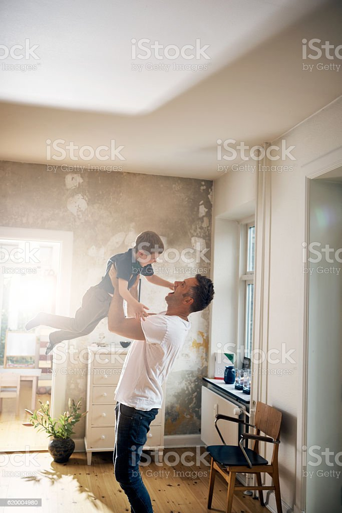The father son bond is unlike any other stock photo