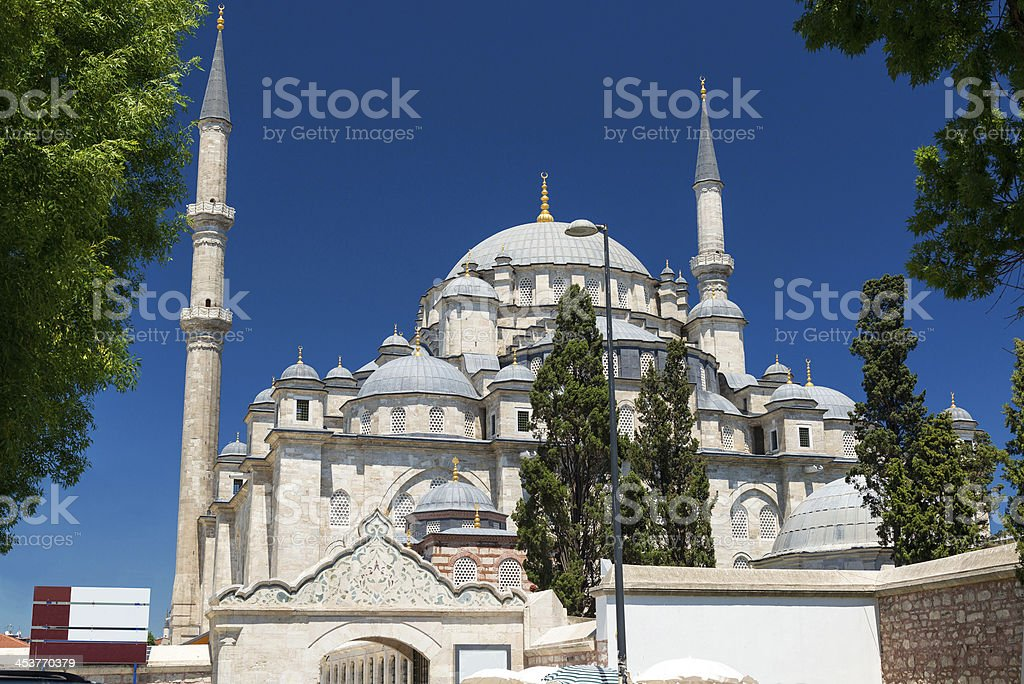 The Fatih Mosque in Istanbul, Turkey stock photo