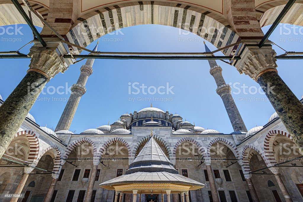 The Fatih Mosque (Conqueror's Mosque) in Istanbul, Turkey stock photo