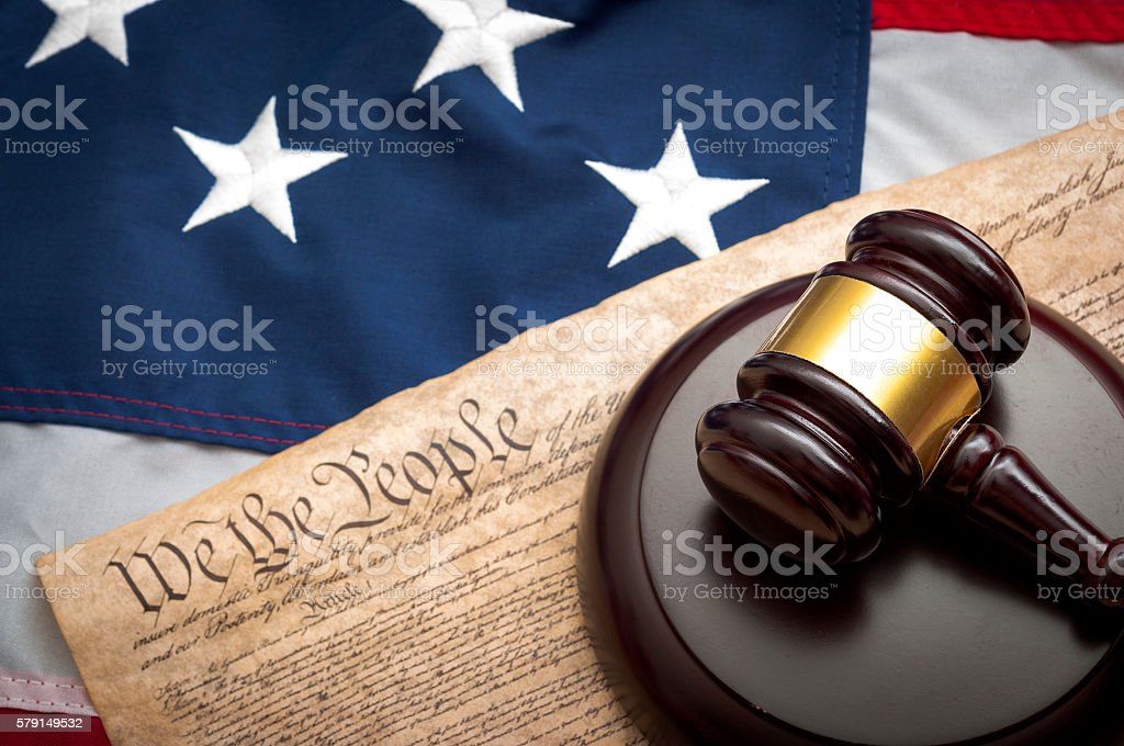 The federal judiciary of the United States stock photo