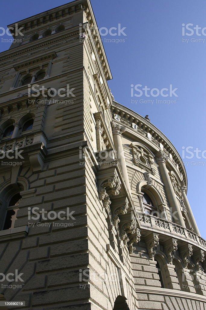 The Federal Palace (Bundeshaus) in Bern, Switzerland royalty-free stock photo