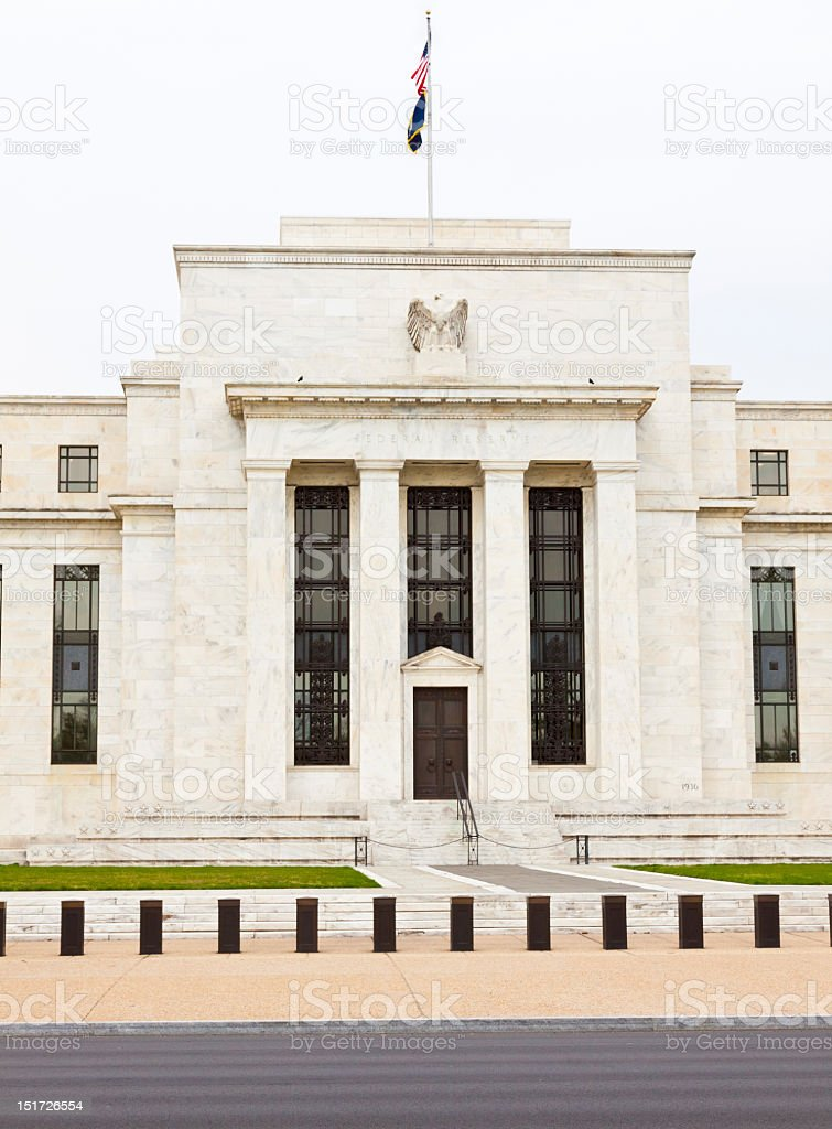 The Federal Reserve Building, Washington DC royalty-free stock photo