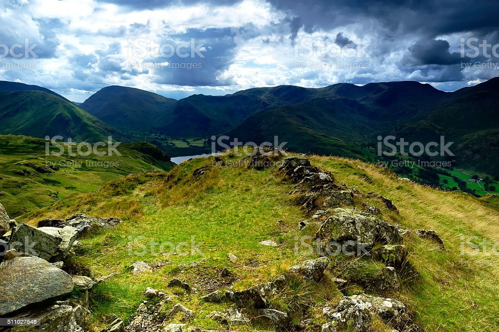 The fells from Place Fell stock photo