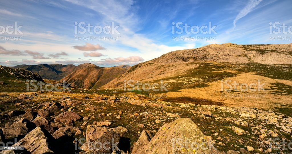 The fells over Wasdale stock photo