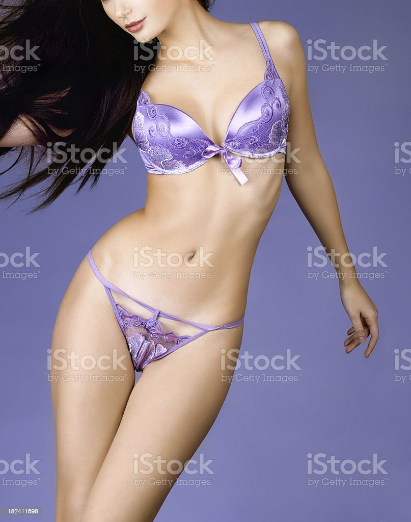The female body in lingerie royalty-free stock photo