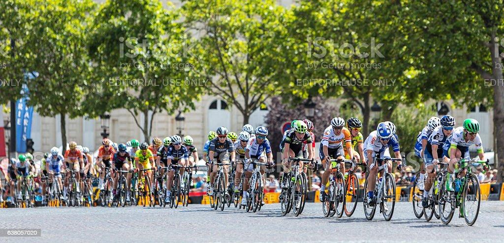 The Feminine Peloton in Paris stock photo