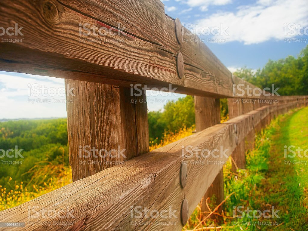 the fence view stock photo
