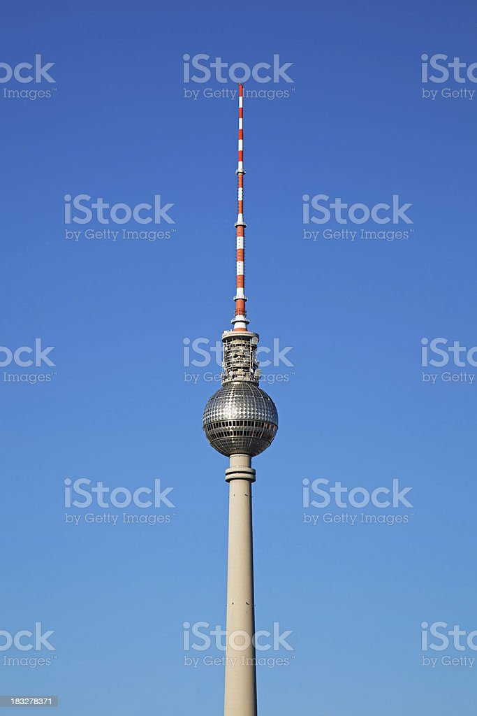 The Fernsehturm, Berlin TV Tower royalty-free stock photo
