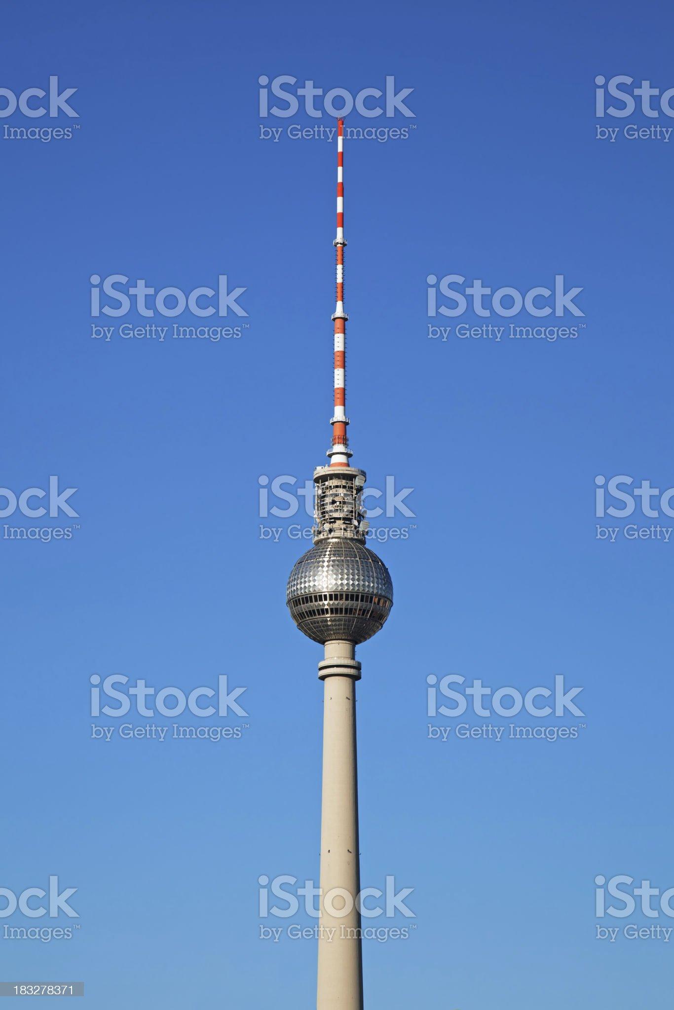 The Fernsehturm, Berlin TV Tower royalty-free stock photo