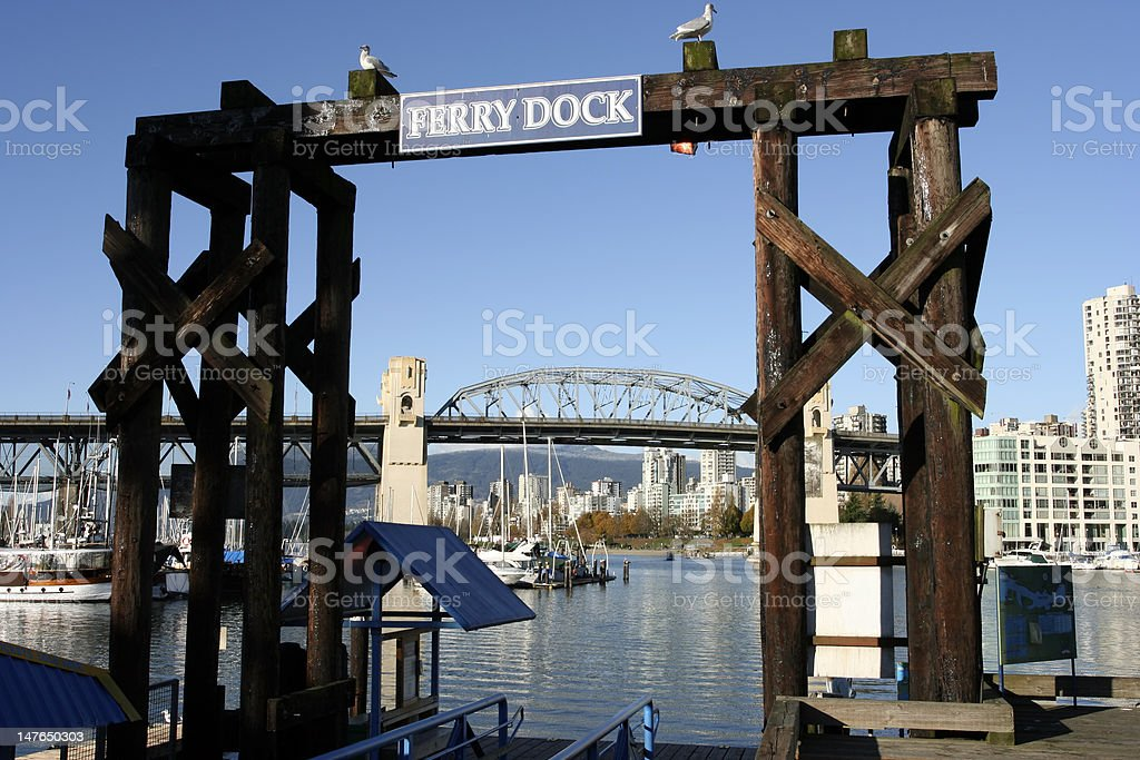 The ferry dock on granville island royalty-free stock photo