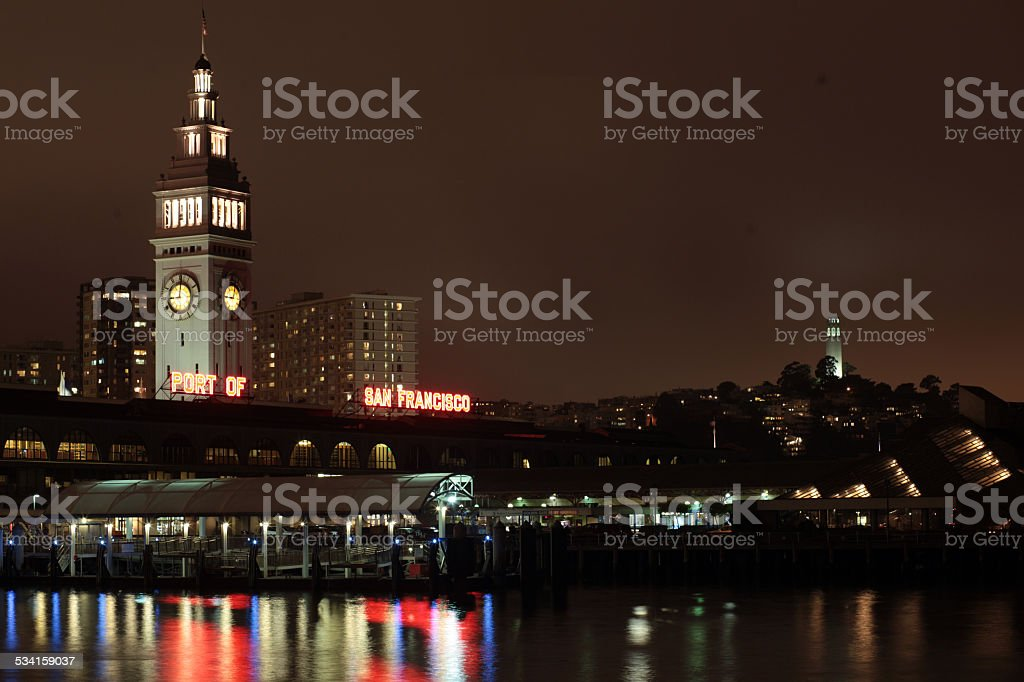 The Ferry Terminal at Pier 1 in San Francisco stock photo