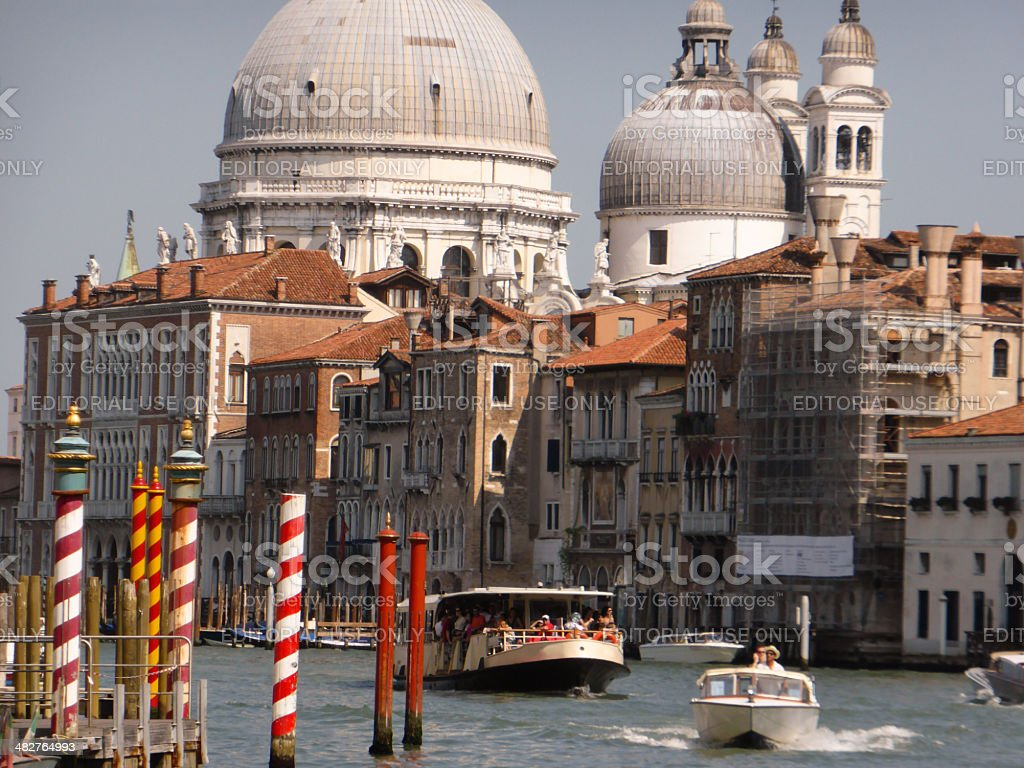 The Festival of the Redeemer in Venice stock photo
