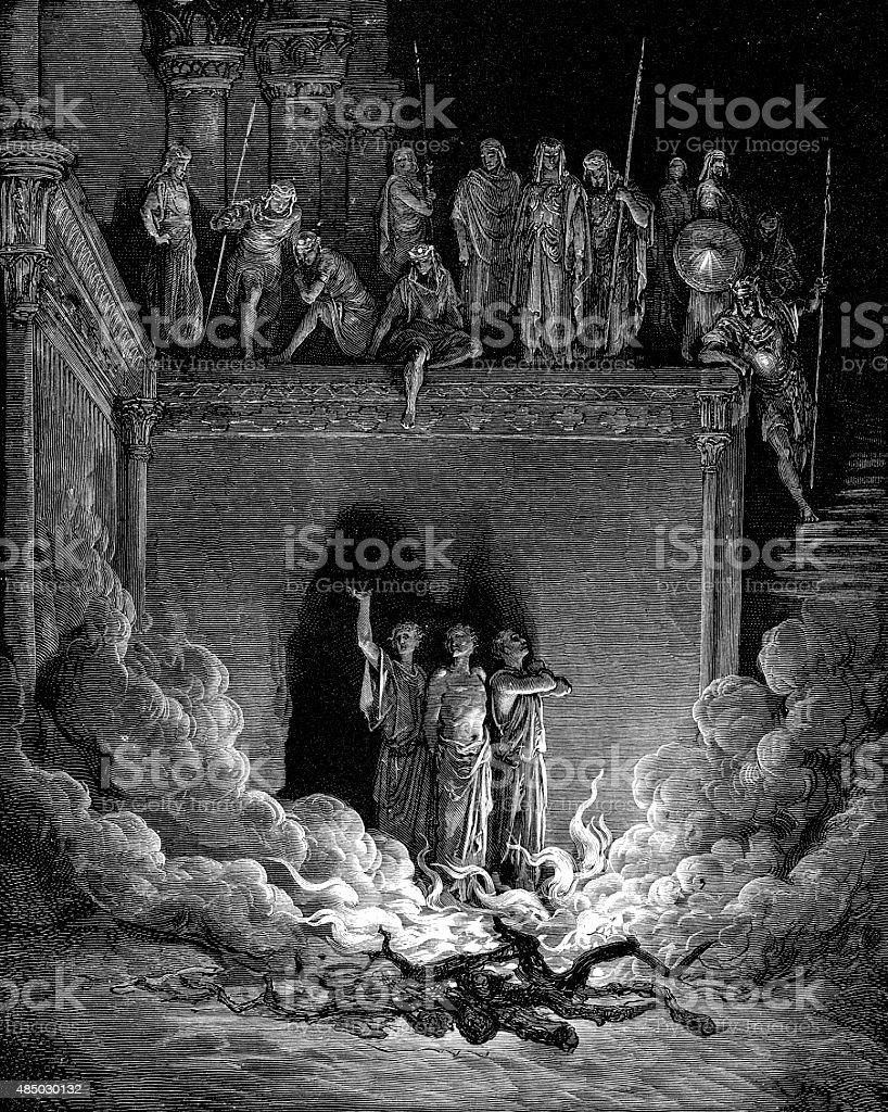 The Fiery Furnace - Biblical Story stock photo