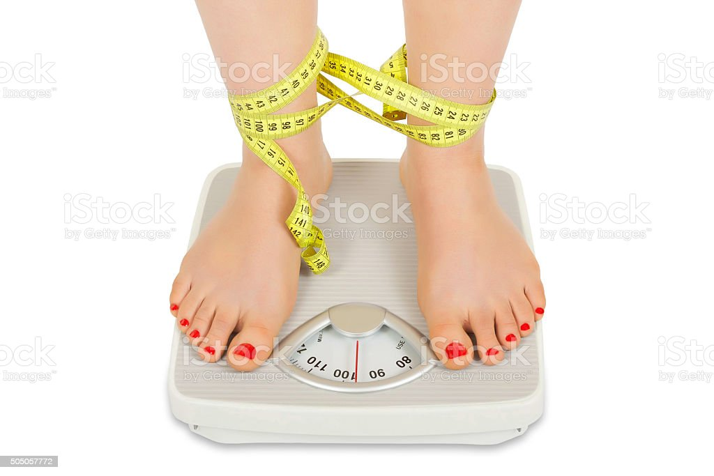 The fight against obesity stock photo