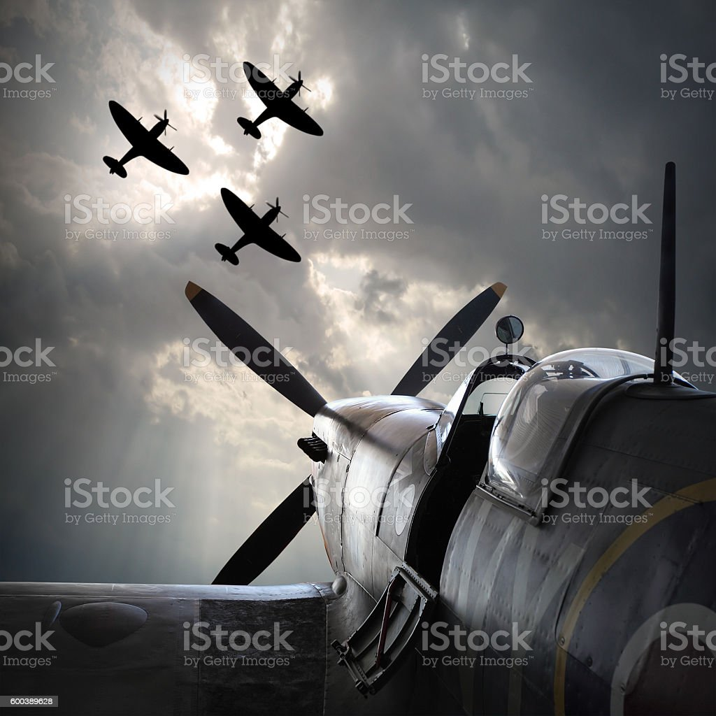 The Fighter planes. stock photo