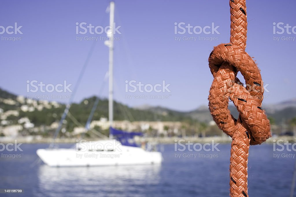 The figure of 8 knot. royalty-free stock photo