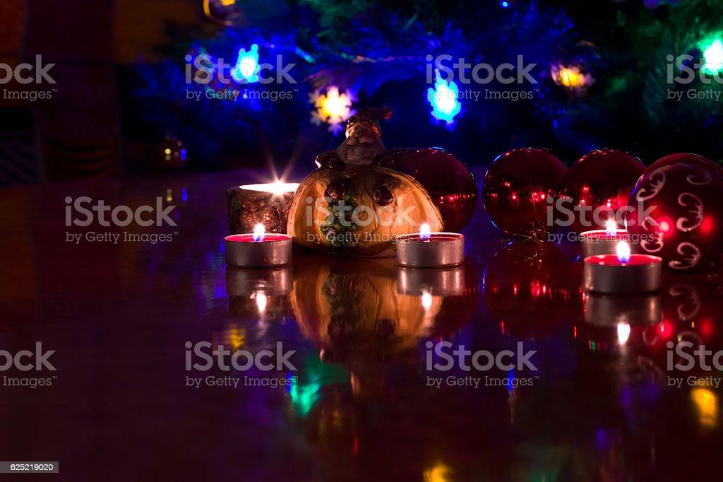 The figure of Santa Claus stock photo