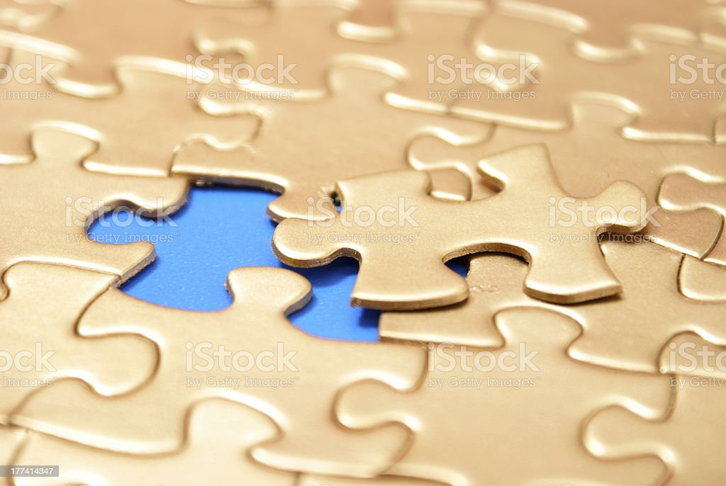 The Final Piece royalty-free stock photo